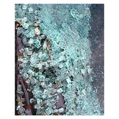 Abstract photography- Shattered glass photo, blue green white home... ($34) ❤ liked on Polyvore featuring home, home decor, wall art, blue home accessories, blue home decor, photography wall art, glass wall art and photographic wall art