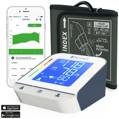 Blood Pressure Monitor  High Accuracy Automatic Upper Arm Premium Machine  iProvèn BPM2244BT with App for iPhone and Android  Large BP Cuff  Best Among Top Rated Electronic Monitors and Cuffs * Learn more by visiting the image link. (This is an affiliate link) What Is Blood Pressure, Natural Blood Pressure, Blood Pressure Medicine, Blood Pressure Chart, Hypertension Blood Pressure, Blood Pressure Symptoms, Blood Pressure Remedies, Pulmonary Hypertension