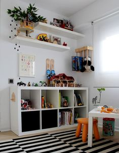 A designated playroom is a great way to give your child plenty of room to play, but playroom storage that … Childrens Bedroom Storage, Playroom Storage, Boys Bedroom Decor, Trendy Bedroom, Children Storage, Big Boy Bedrooms, Bedroom Ideas, Toddler Rooms, Kids Rooms