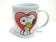 Vintage Snoopy Mug - 1970s Snoopy Mug - Snoopy Collectible - Retro Snoopy Mug - Rare Snoopy Mug - Snoopy and Woodstock - Snoopy Memorabilia by MissieMooVintageRoom on Etsy