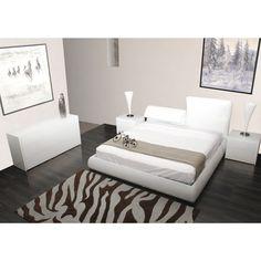Casabianca Furniture Jessie Platform Bed Size: King, Finish: White Leather - CB/K956-KW