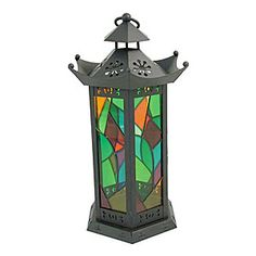 Liven up your garden in the summer evenings with these stained glass lanterns  www.craftyjungle.co.uk/large-stained-glass-lantern.php