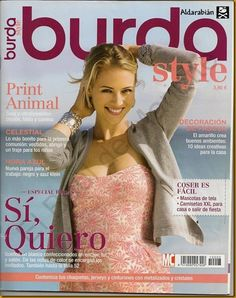 Mujeres y alfileres: Revista Burda Especial Sí, quiero Magazine Couture, Burda Style Magazine, Sewing Magazines, Japanese Books, Boys Suits, Lovely Dresses, World Of Fashion, Strapless Dress Formal, Marie