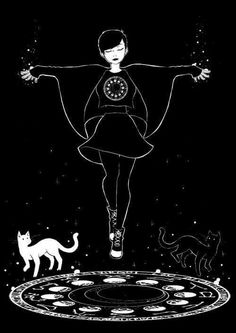 Before you even think about practicing magick, you need to study. It sounds tedious, I know, but witchcraft is not a trivial undertaking. Start a grimoire/Book of. Goth Wallpaper, Kawaii Wallpaper, Trendy Wallpaper, Witch Drawing, Art Tumblr, Illustrator, Image Manga, Modern Witch, Witch Art
