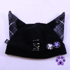 Pawstar SAFETY PIN FOX Hat You Pick Plaid Color Red by pawstar