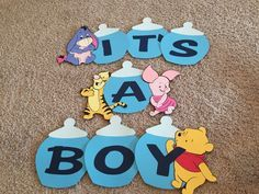Winnie the Pooh Inspired Baby Shower Banner by StinkyToesCreations Baby Shower Niño, Baby Shower Gender Reveal, Baby Shower Parties, Baby Shower Themes, Baby Shower Decorations, Baby Shower Gifts, Shower Ideas, Baby Showers, Winnie The Pooh Themes