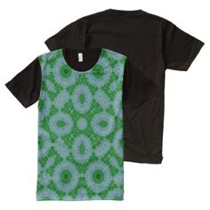 Shop Abstract Pattern green unique pattern All-Over-Print T-Shirt created by ZierNorShirt. Personalize it with photos & text or purchase as is! Types Of T Shirts, Shirt Print Design, Stylish Shirts, S Shirt, Abstract Pattern, Printed Shirts, Funny Tshirts, Blue Green, Retro