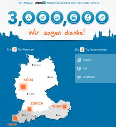 3 Mio. #LinkedIn Members in #Germany #Austria #Switzerland