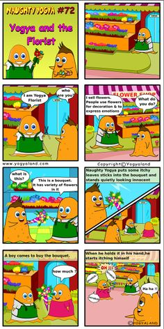Yogya and the Florist | Daily Comics from Yogyaland.com www.yogyaland.com/comic_strip/yogya-and-the-florist Funny Comics For Kids, Manga, Comic Strips, Comics, Comic Books, Manga Anime, Manga Comics, Manga Art