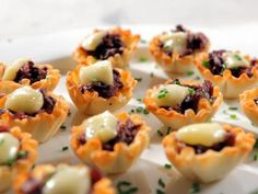 Get Brie and Merlot Mushrooms Bites Recipe from Food Network