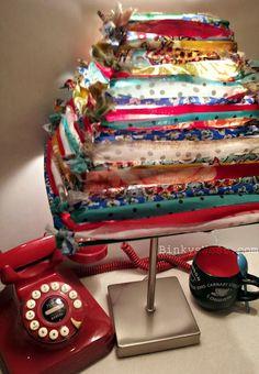 Fabric Scrap Lampshade - DIY... Small night light lamp in kid bathroom?