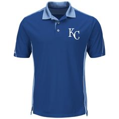 0229ab5e5 Kansas City Royals Majestic To The 10th Men s Performance Polo Shirt M  Astros Apparel