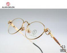 Vintage oval eyeglasses, Alain Delon 3573 - unisex optical frame / NOS - Vintage eyeglasses frames - Brillen Designer Glasses For Men, Men's Jewelry Rings, Steampunk, Round Eyeglasses, Alain Delon, Cafe Racer, Optical Frames, Mens Glasses, Unisex