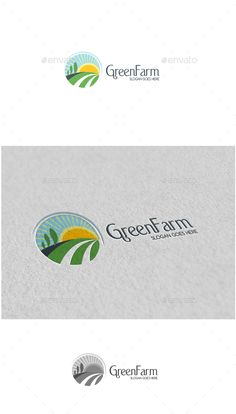Green Farm Logo by MS_designer Green Farm Logo -AI and EPS file -CMYK mode -100% vector and resizable -Easy to edit color and text -Green Farm Logo(Color) -Gre