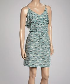 Take a look at this Blue Ahoy Olive Silk Dress by Postella on #zulily today! $95 !!
