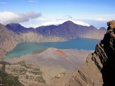 Segara Anak Lake, Rinjani's crater seen from Senaru crater rim. Photo by Rini Raharjanti