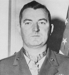 """Joseph Jeremiah McCarthy (19111996) veteran of World War II and Korean War Medal of Honor recipient for his actions during the Battle of Iwo Jima. He was also awarded by the Silver Star medal and Purple Heart (twice). Citation: """"For conspicuous gallantry and intrepidity at the risk of his life above and beyond the call of duty as commanding officer of a rifle company attached to the 2nd Battalion 24th Marines