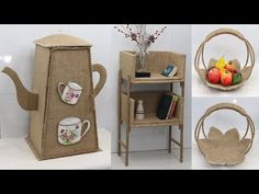 Jute Crafts, Storage Organization, Reusable Tote Bags, Sisal, Craft Ideas, Projects, Jute, Log Projects, Blue Prints