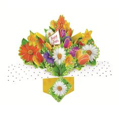 Happy Easter Pop-Up Flowers Greeting Card Second Nature Pop Up Cards Pop Up Greeting Cards, Pop Up Cards, Pop Up Flowers, Nature 3d, Happy Easter, Birthdays, Valentines, Christmas, Diy