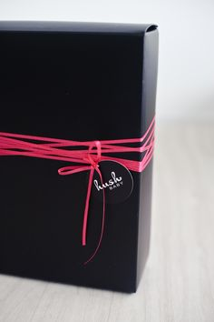 gift wrapping with string or cord can be easy. box + string + tag = memorable gift.