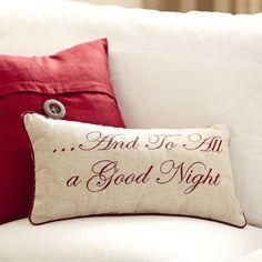 Birch Lane Nighttime Embroidered Pillow   Birch Lane