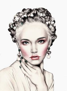 fashion illustration face and neck - Yahoo Image Search results