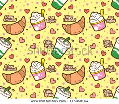 Food and beverage seamless background by mhatzapa, via ShutterStock