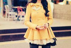 cute yellow coat