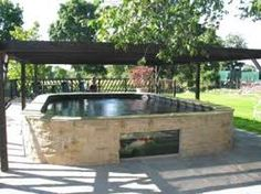 Image result for how to build a koi pond above ground