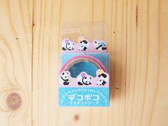 masking tape, panda, die cut. CUTE CUTE CUTE kawaii Panda masking tape for my scapbook project.
