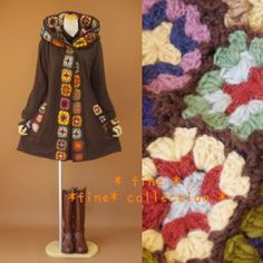 Fabulous Crochet Coat... if I could figure out how to order this, I would definitely buy it! Unfortunately, the website is in JAPANESE!
