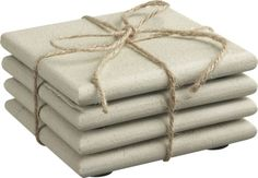 Set of 4 Blanco Sandstone Coasters  | Crate and Barrel