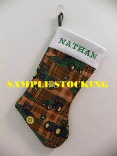 Personalized John Deere Christmas Stocking by GiftsFromTheMitten