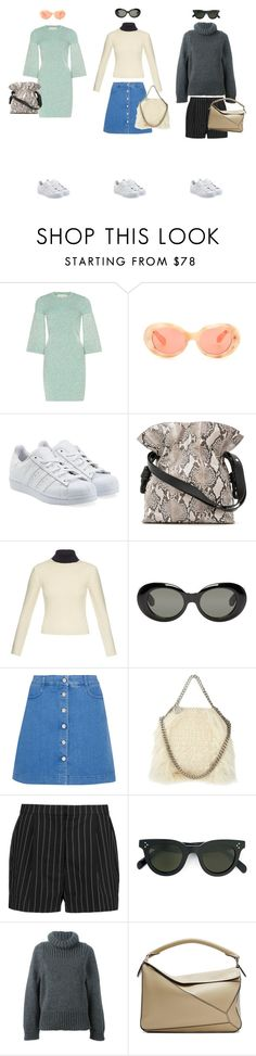 """#18"" by jennybecker on Polyvore featuring STELLA McCARTNEY, Acne Studios, adidas Originals, Loewe and CÉLINE"