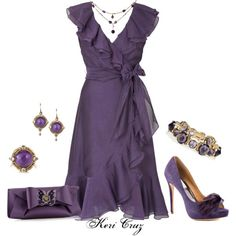 A Vision in Violet, created by keri-cruz on Polyvore