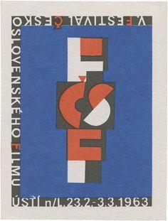 Festival of Czechoslovakian film - FČSF ÚSTÍ nad Labem, 23.02–03.03.1963 (99mm × 75mm) | Flickr – Condivisione di foto! Typography Design, Branding Design, Lettering, Alphabet City, Dark Side, Letterpress, Kids Rugs, Graphic Design, Film