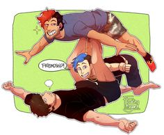 "chibi-megimoo: ""Friendship!"" also, the teamiplier really do need to make a yoga vid lol"