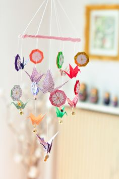 Origami mobile. So sweet