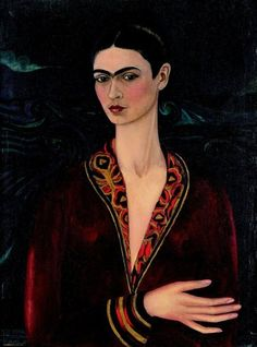 Banco de México Diego Rivera & Frida Kahlo Museums Trust, Mexico/Artists Rights Society Frida Kahlo: Self-Portrait in Velvet, 1926 Frida E Diego, Frida Kahlo Diego Rivera, Kahlo Paintings, Mexican Artists, Wassily Kandinsky, Famous Artists, Mexico City, Oeuvre D'art, Les Oeuvres