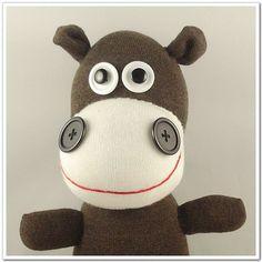 Handmade+Sock+Hippo+Stuffed+Animal+Doll+Baby+by+supersockmonkeys,+$17.99