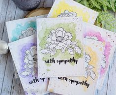 Houses Built of Cards: Reverse Watercolor Sympathy Cards