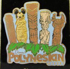 Disney Pin - Disney's Polynesian Resort - Tikis - Stitch