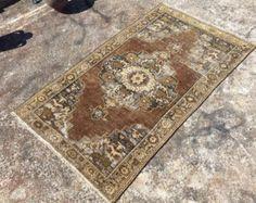 Oushak rug Distressed area rug 113 X 87 Antique by PocoVintage