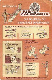 Air California Safety Card