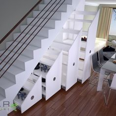 Decorations:Pull Out White Drawer Wine Rack Cellar Under Stair Also Wooden Handrail On Laminate Wooden Flor Smart Utilization Under Stair Wine Storage Ideas Cabinet Under Stairs, Room Under Stairs, Storage Under Stairs, Stairway Storage, Mountain Home Interiors, Flur Design, House Stairs, Staircase Design, Basement Remodeling