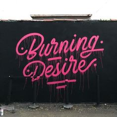 a burning #desire to see more #artworks by @itsaliving doesn't let us go #handmadefont