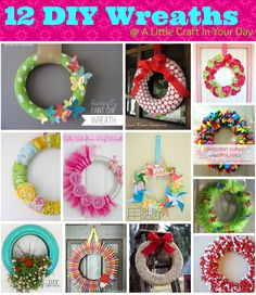 Wreaths are the perfect way to bring your door from drab to FAB. Although, at the store then can be rather pricy, so how about making your own DIY Wreaths?