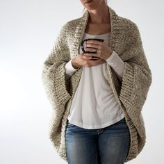 DECISIVENESS: Oversized Scoop Sweater Knitting Pattern