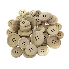 MagiDeal Pack of 50 Mixed Size Natural Wooden Round Buttons for Sewing Crafting Baby Boy Knitting Patterns, Baby Sweater Patterns, Baby Cardigan Knitting Pattern, Knit Baby Sweaters, Baby Knits, Diy Buttons, Baby Girl Crochet, Sewing Accessories, Button Crafts