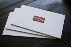 «I believe letterpress printing excels at simplicity - These cards are a great example. Printed for Hotel 1171 on 220lb Crane Lettra.»